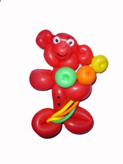 Ballonmodellieren. Ballonkünstler knoten lustige Ballonfiguren