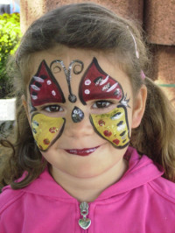 Kinderschminken Münster - Bunter Schmetterling