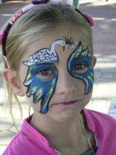 Kinderschminken Lübeck - Schwanenmaske